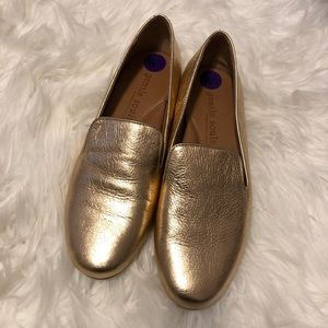 Gentle Souls by Kenneth Cole- gold loafers